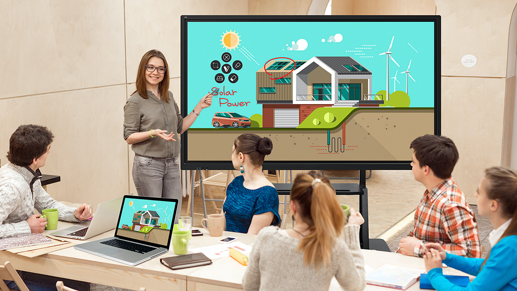 DISPLAX SENSE is a Digital Whiteboard with Digital Markers and Eraser